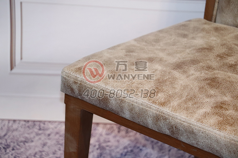Antique Hardware metal Square chair Backrest Space Chinese Pattern Hotel Dining Chair Dining Chair Soft Leather Dining Chair