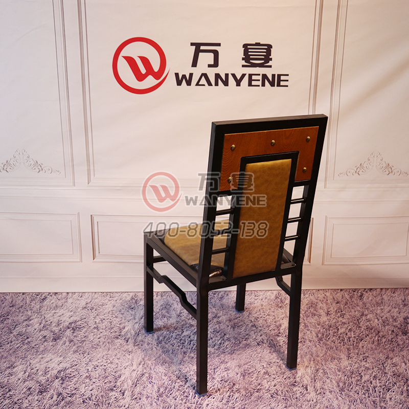 Hardware Iron Antique Dining Chair Ming & Qing Antique Banquet Dining Chair Black Iron Dining Western Dining Chair