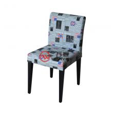 Industrial style Newspaper dining chair Hardware foot dining chair Restaurant tea shop dining chair Steady chair
