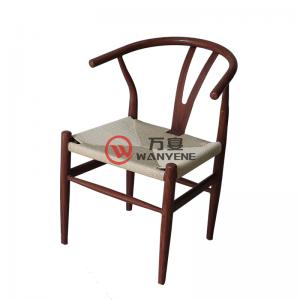 Industrial style dining chair Iron pipe welding A chair Fabric weaving cushion Wood grain veneer metal spraying chair Generous and durable