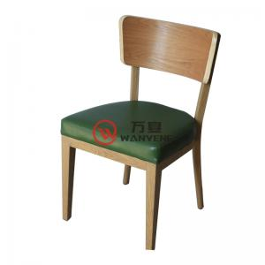 Ash solid Wood dining chair Square Backrest Fabric upholstery Restaurant Cafe Chair Dining Chair Pastoral Style