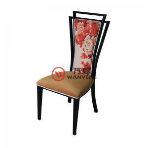Peony backrest metal frame chair lobby dining room chair velvet cushion backrest