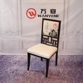 Antique Chinese Western Chair Ink Painting Chair Chinese Style Dining Chair Metal Dining Chair Heavy Wear Resistant chair frame