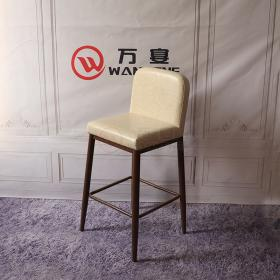 Bar chair high bar stool Soft cushions personalized custom Metal frame bar chair