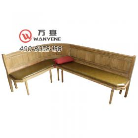 Solid wood pine seat sofa Soft seat cushion Right angle deck sofa KTV sofa Corner booth sofa