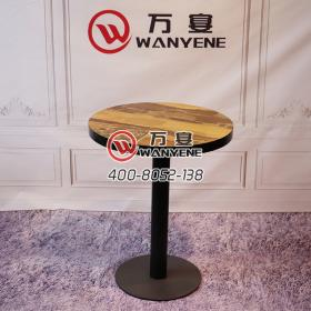 Western Restaurant Round café table Personality Western Restaurant Dining Table Black matt finish Hardware Dining Table