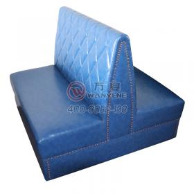 Restaurant 4 person backrest copper nail edging booth sofa provincial space position sofa