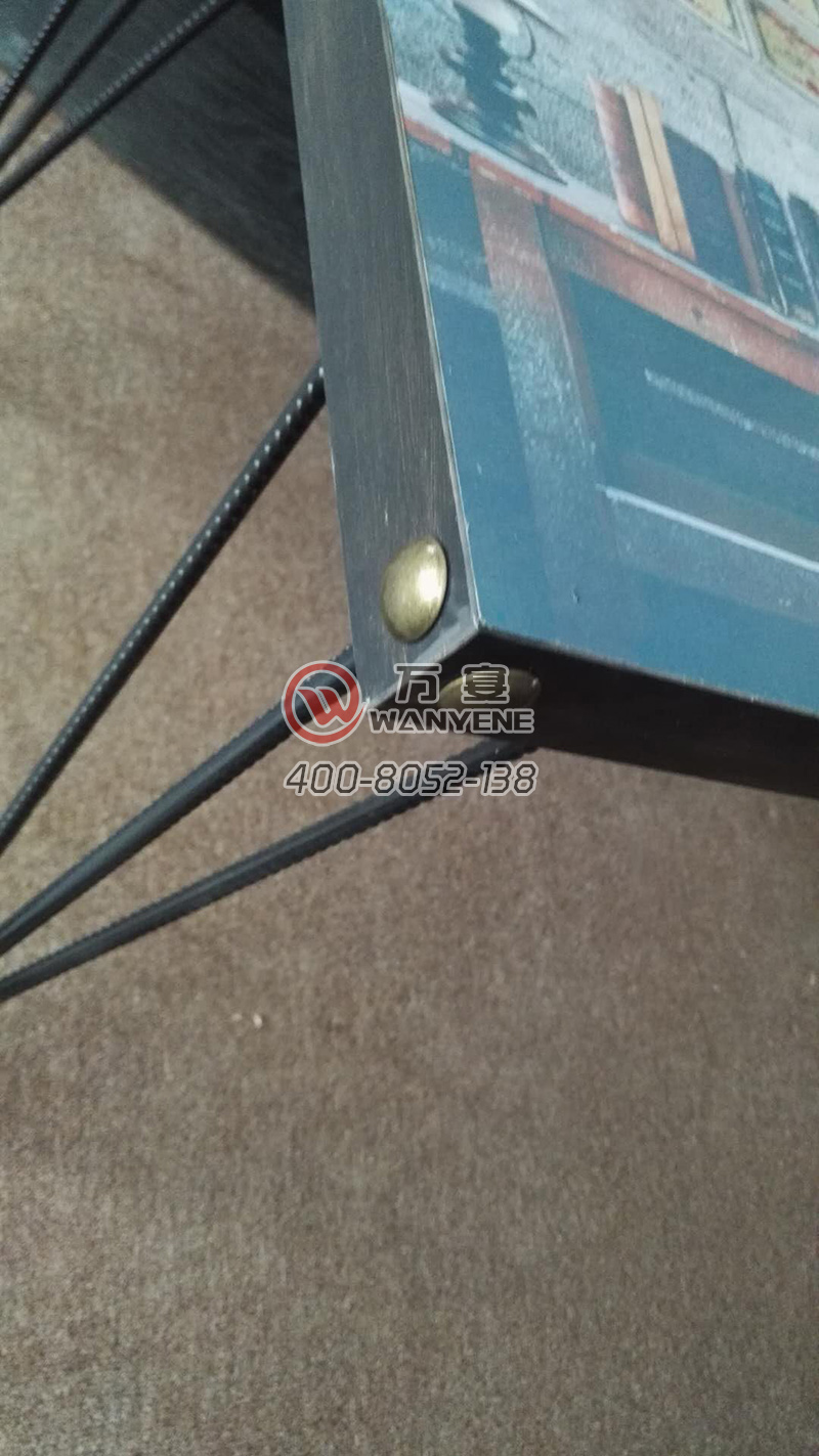 Hardware copper nails steel feet, dining table simple dining table