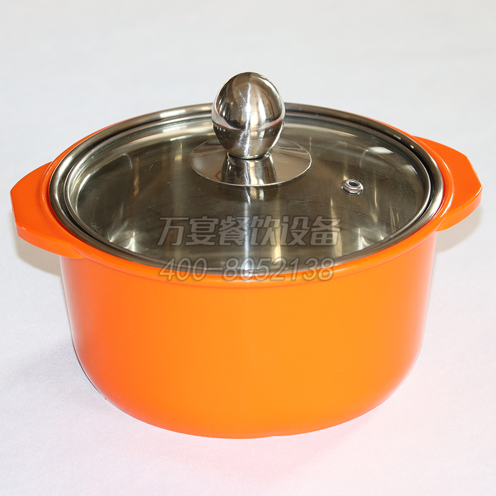 Orange, hot anti-scalding, anti-hot pot, special cooker for induction cooker, custom-made anti-scalding pot
