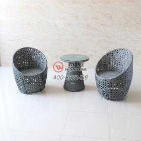 Outdoor Furniture Set Features Waterproof Leisure Chair Coffee Table Grey Outdoor Wicker Chair Outdoor Waterproof Furniture