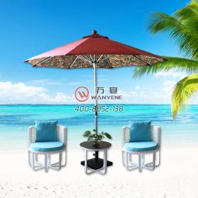 Outdoor Furniture Umbrella Rattan Chair Hardware Iron Pipe Frame 2m 5 Sun Umbrella Professional Customization