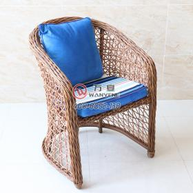 Simple woven wicker lounge chair American pastoral style Outdoor furniture wicker chair