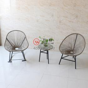 Simple style outdoor coffee table set sunscreen imitation water outdoor rattan chair furniture