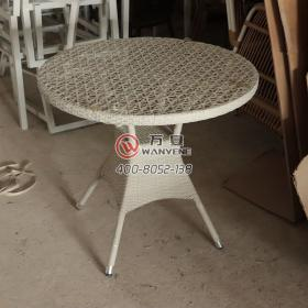 Round white outdoor coffee table outdoor rattan coffee table color could be customized