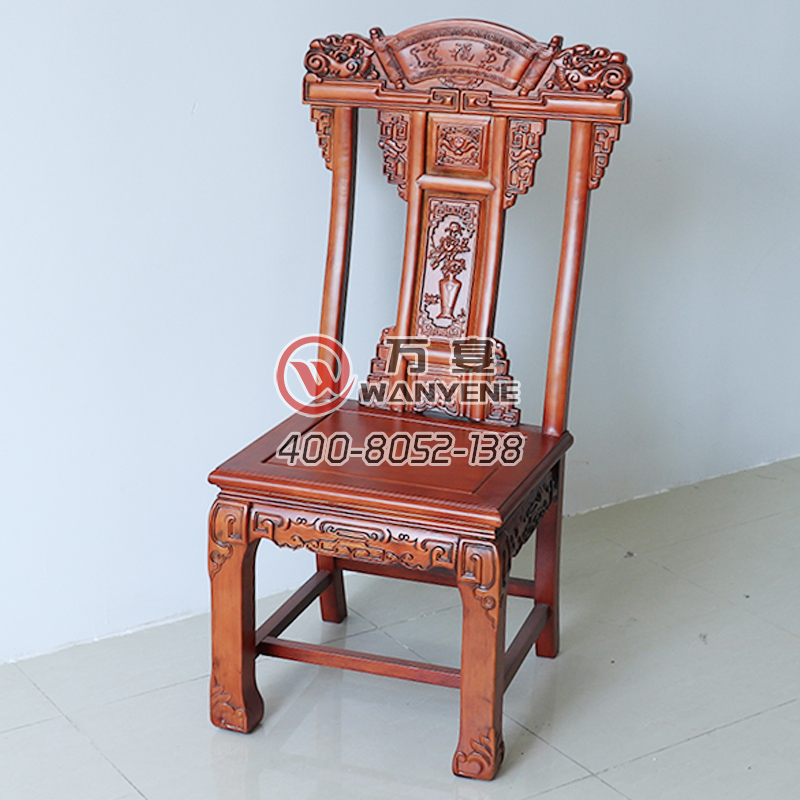 High-end solid wood Antique Chinese carved dining chair Thick solid wood structure wear-resistant and durable chair --The Product Image' style=
