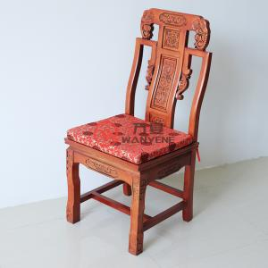 Red solid wood antique Chinese elephant trunk chair carved back chair high-end royal chair heavy and durable