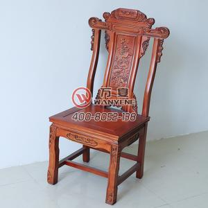High-end solid wood banquet chair Chinese antique chair Solid wood carved backrest Load-bearing strong restaurant hotel lobby dining chair
