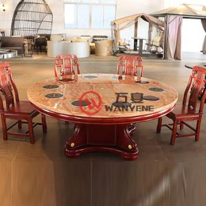 Hot Sale Chinese style marble top Shabu Shabu hotpot table Chinese style classic style solid wood hot pot dining table