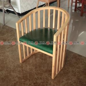 Coconut chicken restaurant customized style chair solid rubber wood dining chair 2344