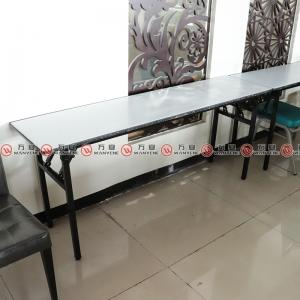 Folding banquet table folding  metal legs dining table 1145