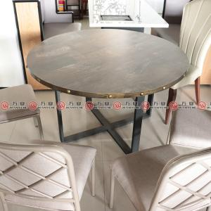 X frame hot pot dining table base wood top with nailing decoration hot pot table 1155