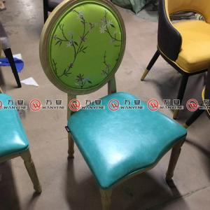 Round back industrial vintage style hot pot chair ...