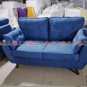 Japanese style fabric sofa blue double seat sofa