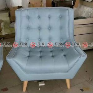 Blue fabric leisure chair 2377