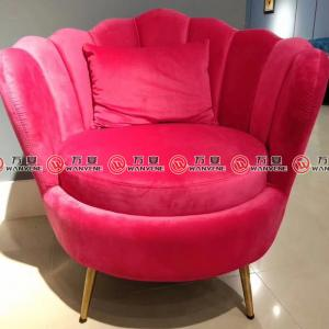 Red velvet fabric leisure chair 2378