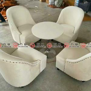 Hotel furniture leisure chair with linen fabric covering 2384