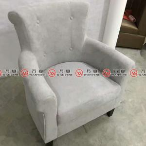 Gray linen fabric leisure sofa chair arm chair 238...