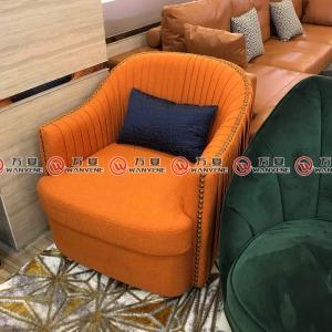 Leisure arm chair orange color sofac