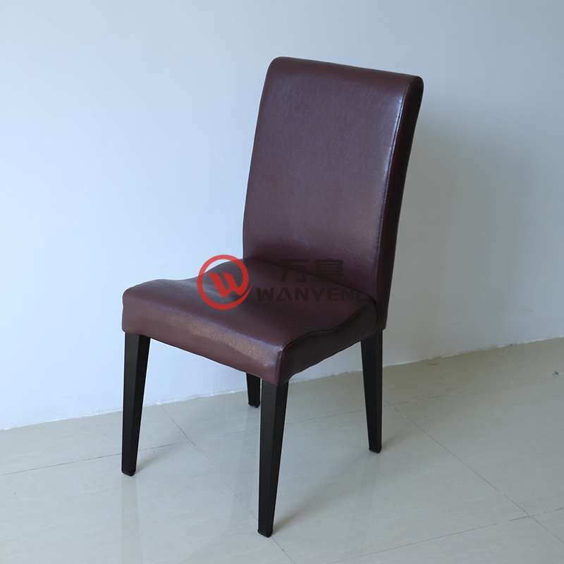 High-end restaurant chair Hotel lobby Dining chair Black hardware frame stable and durable Cafe dining chair --The Product Image' style=