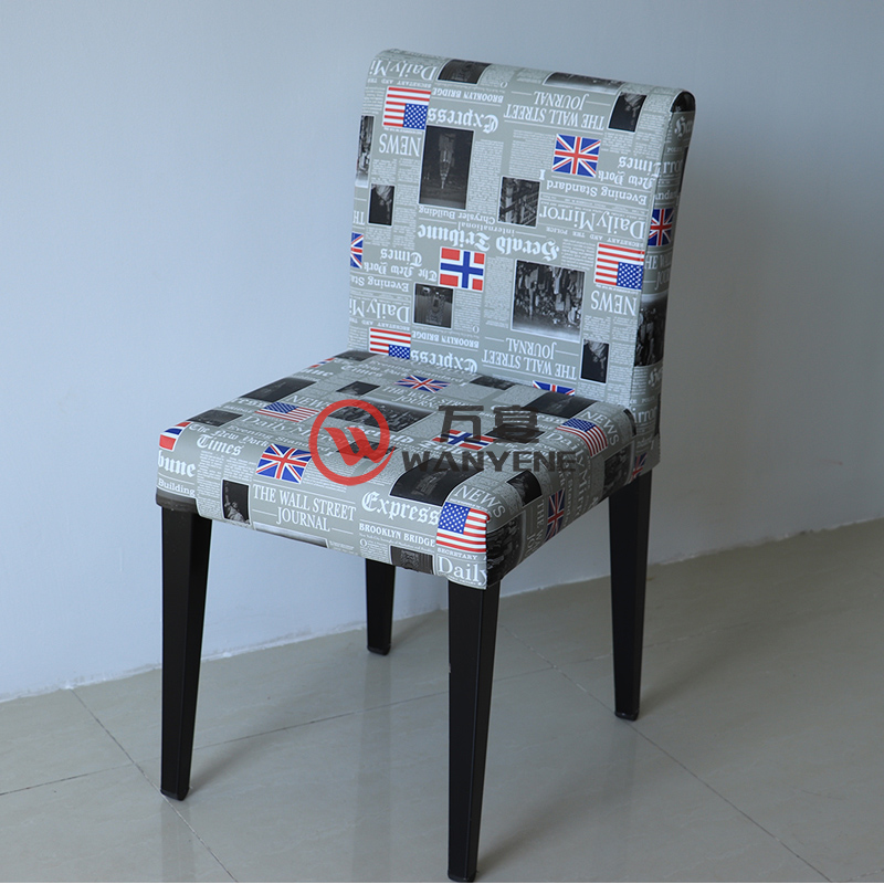 Industrial style Newspaper dining chair Hardware foot dining chair Restaurant tea shop dining chair Steady chair --The Product Image' style=