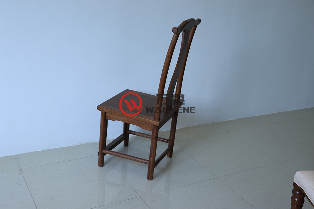 Solid wood Chinese carved horn chair
