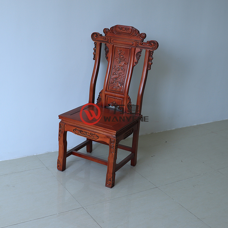 High-end solid wood banquet chair Chinese antique chair Solid wood carved backrest Load-bearing strong restaurant hotel lobby dining chair --The Product Image' style=