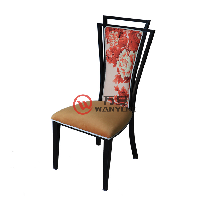 Peony backrest metal frame chair lobby dining room chair velvet cushion backrest --The Product Image' style=