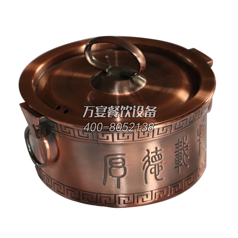 High-end anti-scalding pot, heat-resistant and wear-resistant hot pot, metal anti-scalding pot, Chinese pattern, pattern with earrings, anti-scalding pot