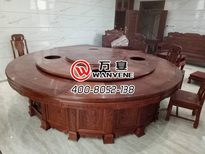 solid wood hotpot table