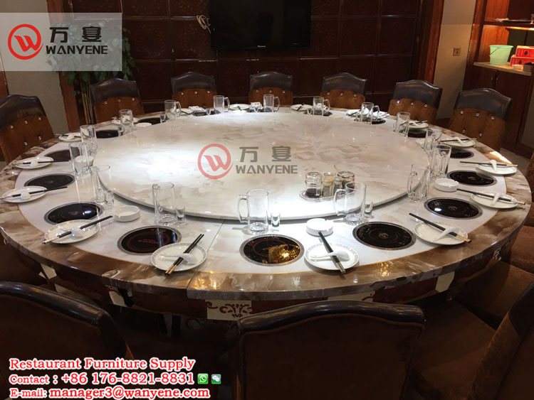 16-person electric hot pot table: